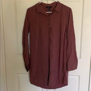 Long sleeve button down dress